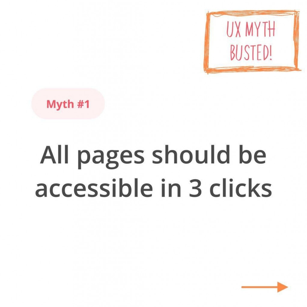 UX Myth Busted! Myth #1  All pages should be accessible in 3 clicks