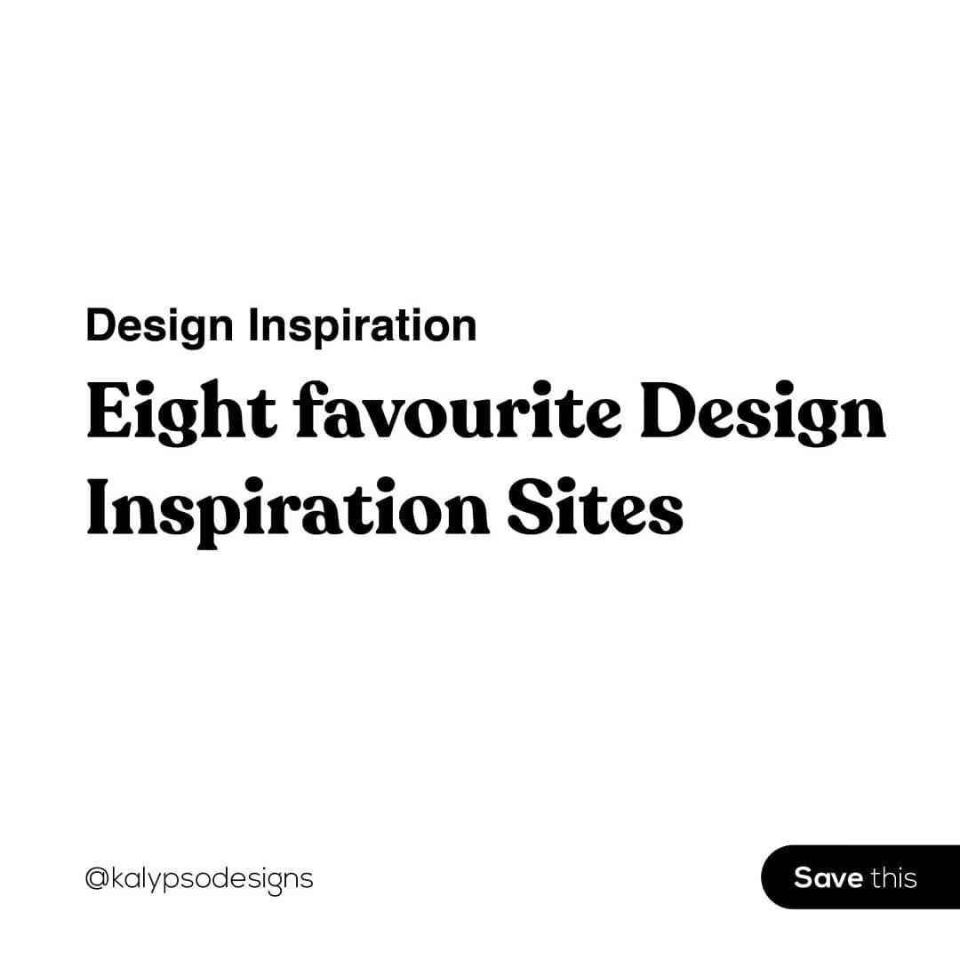 8 Favourite Design Inspiration Sites