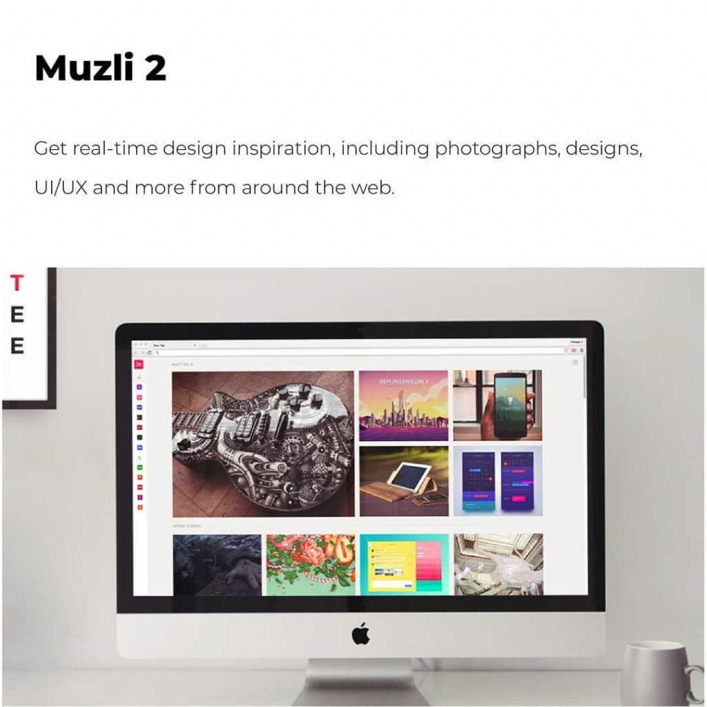 Muzli 2  Get real-time design inspiration, including photographs, designs, UI/UX and more from around the web.
