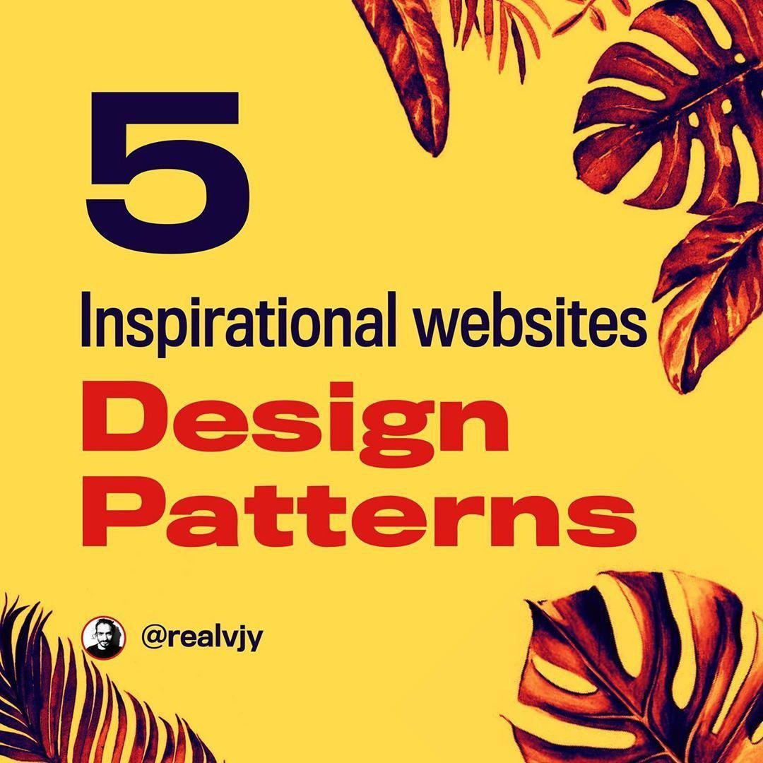 5 inspirational websites for Design patterns