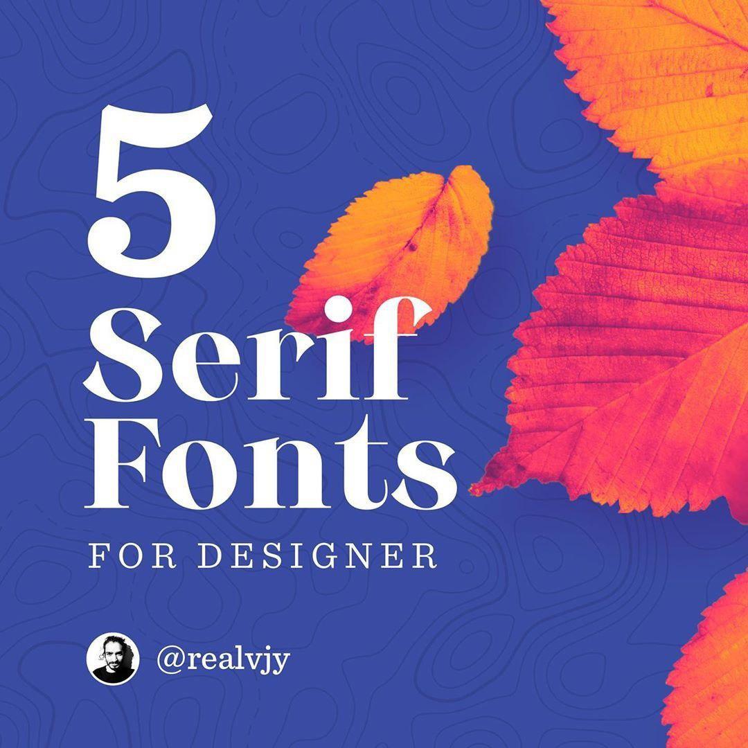 5 Serif Fonts
