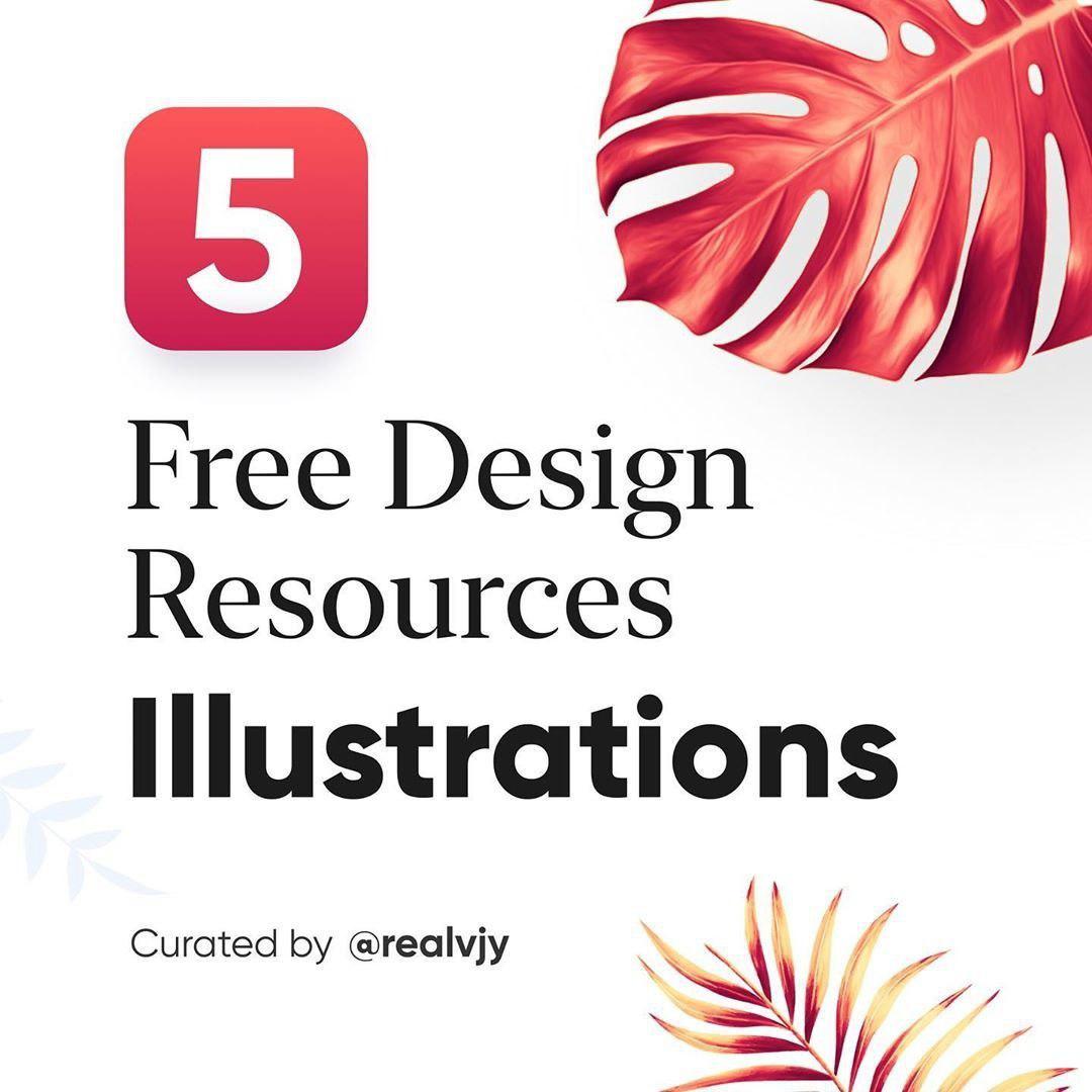 5 Free design resources: illustration