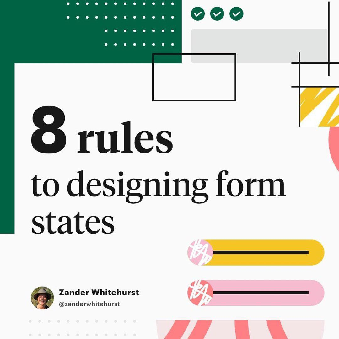 8 rules to designing form states ⁣⁣