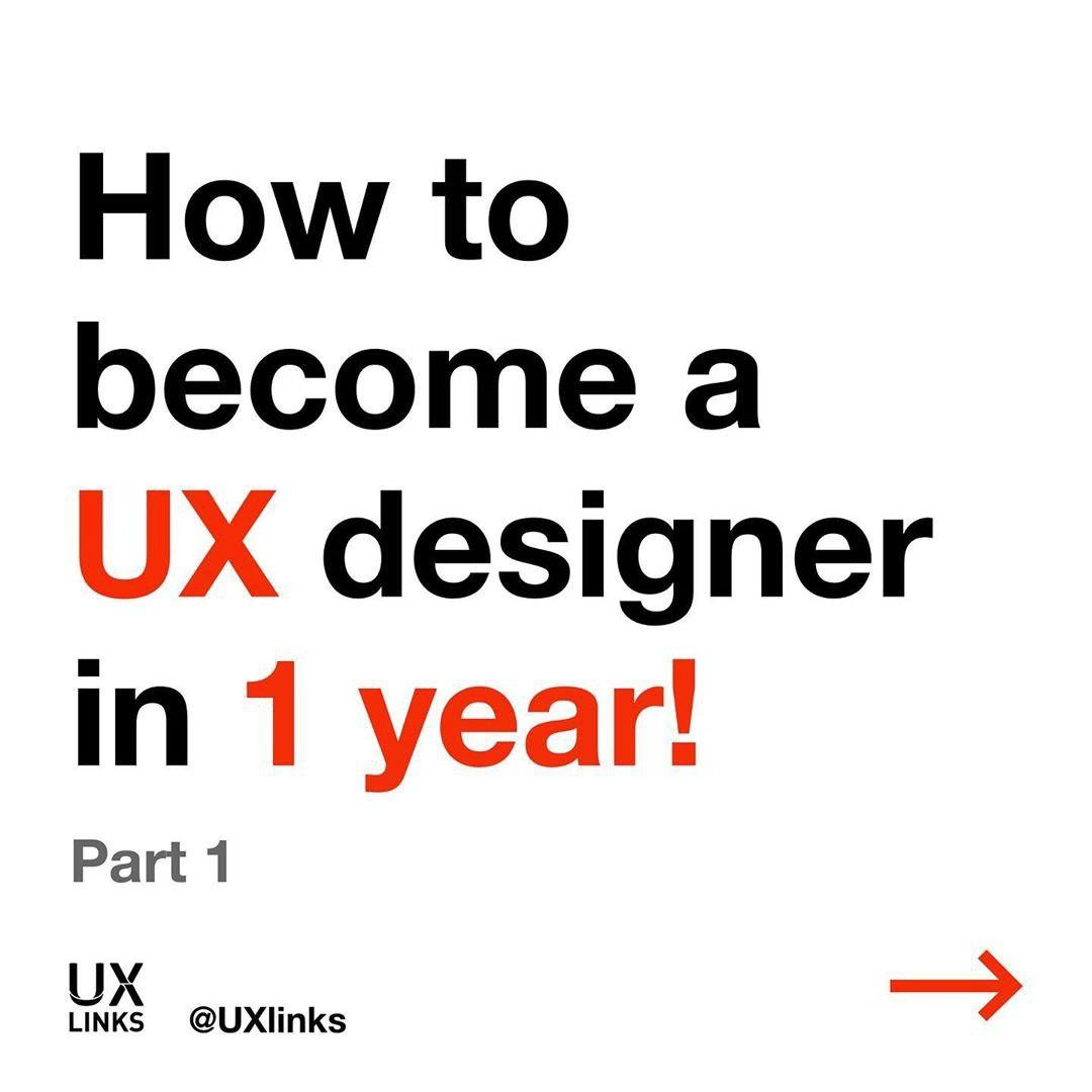 How to become a UX designer in 1 year!