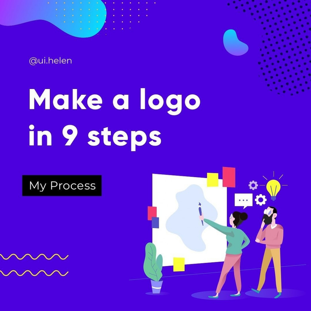 Here is the process I follow when making a logo