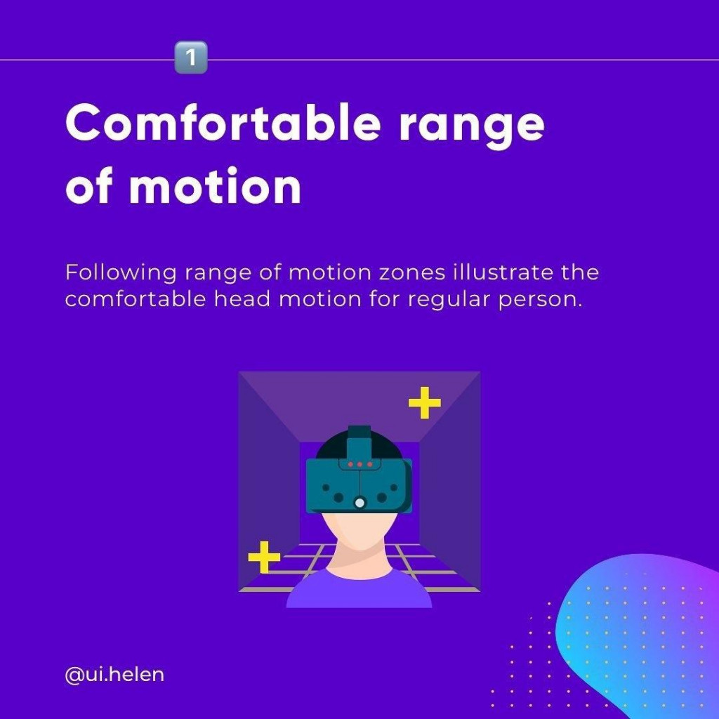 Comfortable range of motion  Followlng range of motlon zones lllustrate the comfortable head motlon for regular person