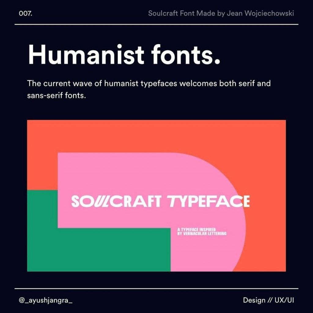 Humanist fonts  The current wave of humanist typefaces welcomes both serif and sans-serif fonts