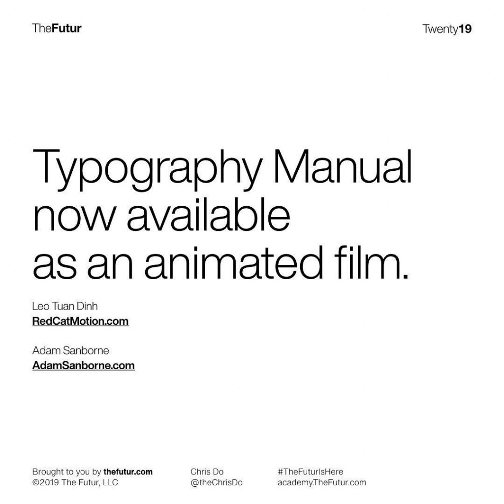 Typography Manua now available as an animated film