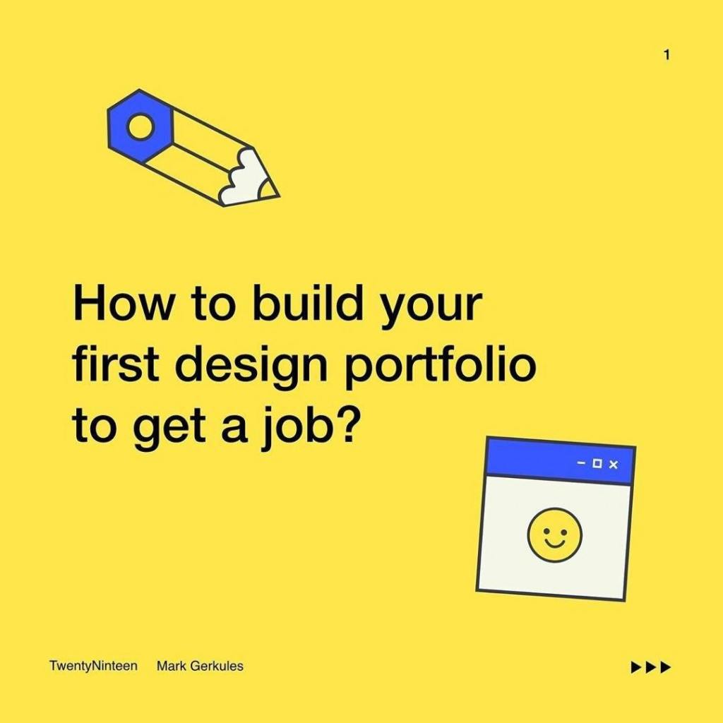 How to build your first design portfolio to get a job?