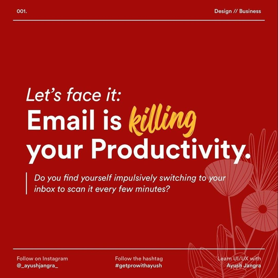 Let's face it: Email is killing our Productivity