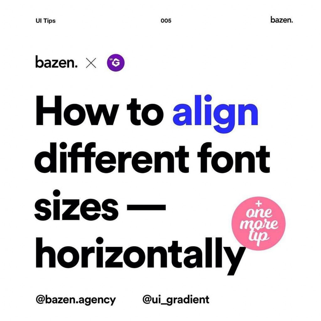 How to align different font sizes — horizontally