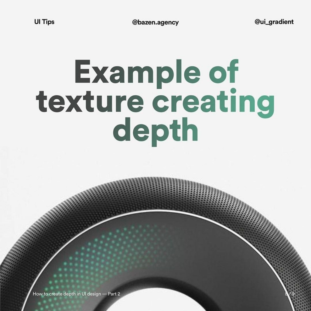 Example of texture creating depth