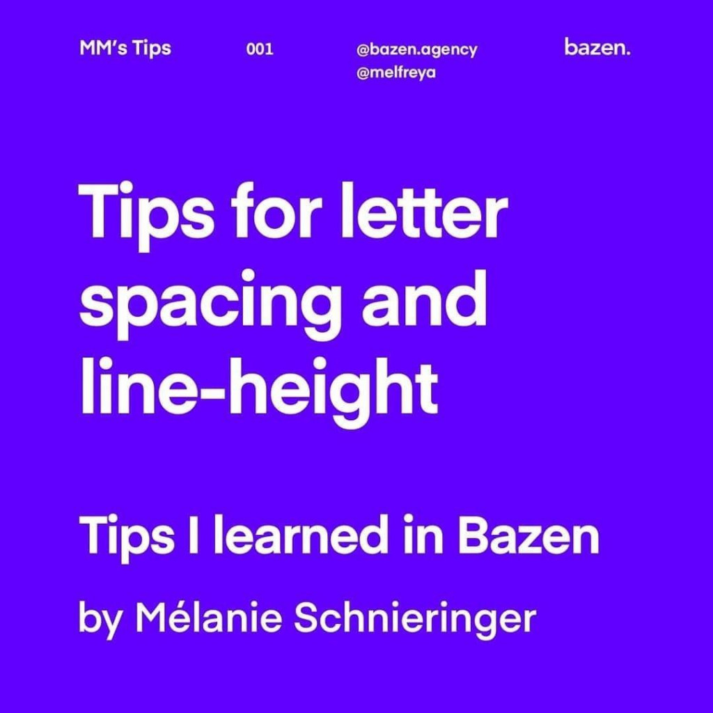 Tips for letter spacing and line-height