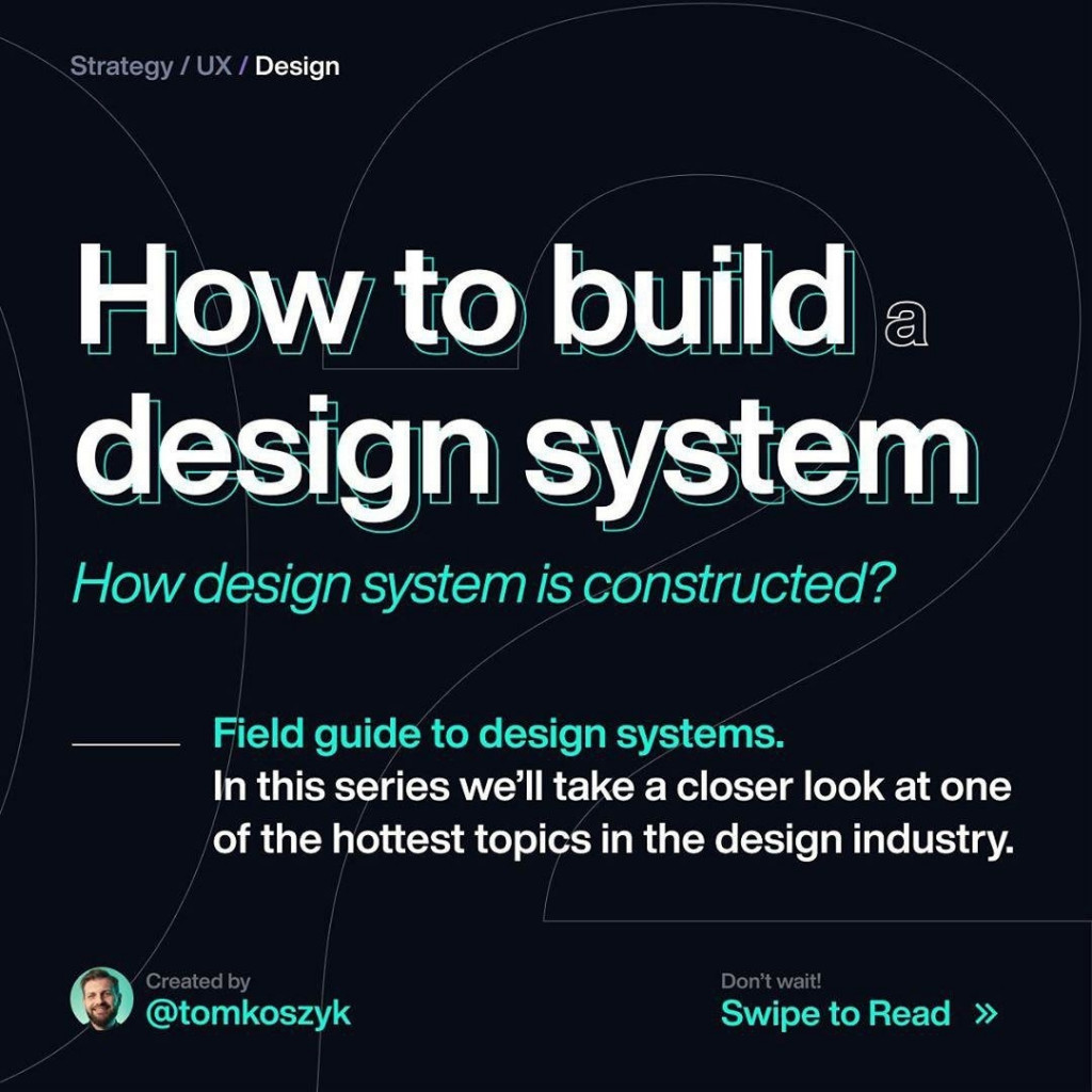 How to build a design system?  How design system is constructed?  Field guide to design systems. In this series we'll take a closer look at one of the hottest topics in the design industry.