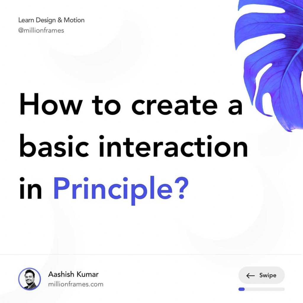 How to create a basic interaction in Principle