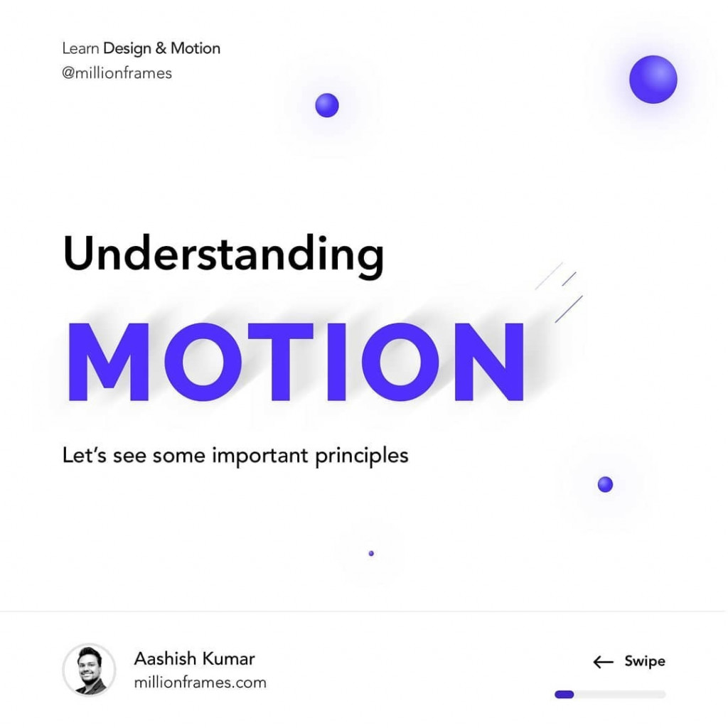 Understanding Motion. Let's see some important principles.