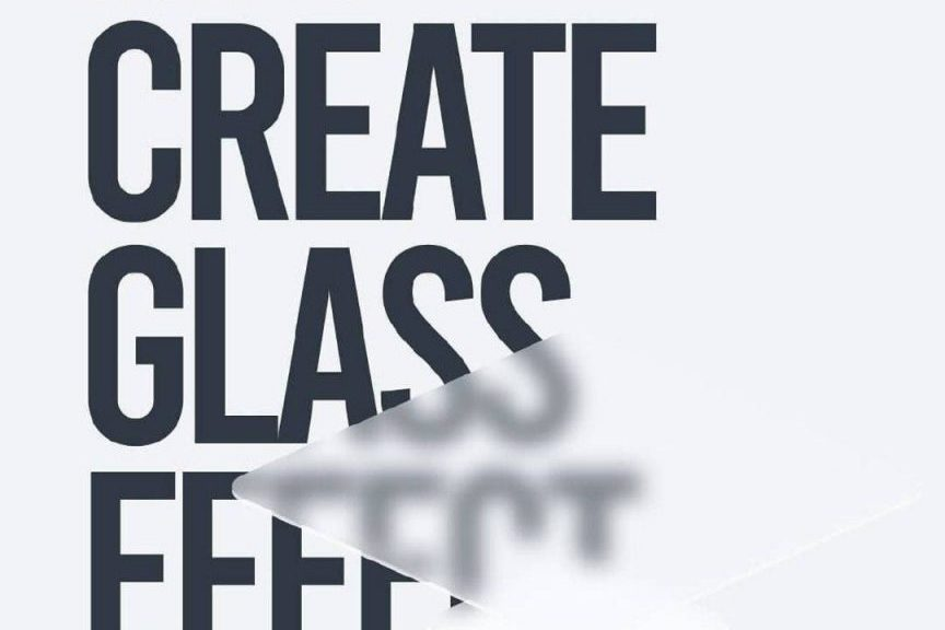 How to create a glass effect for your designs