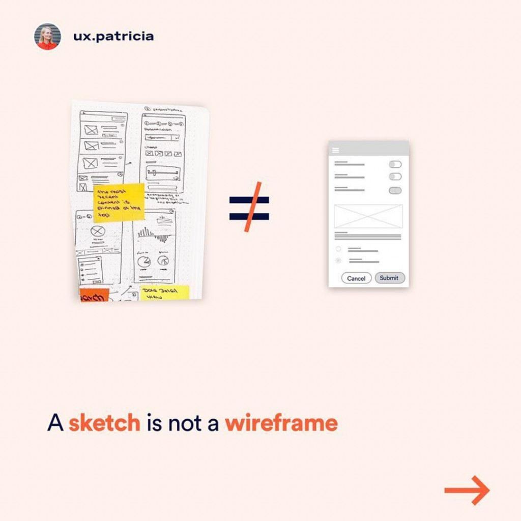 A sketch is not a wireframe