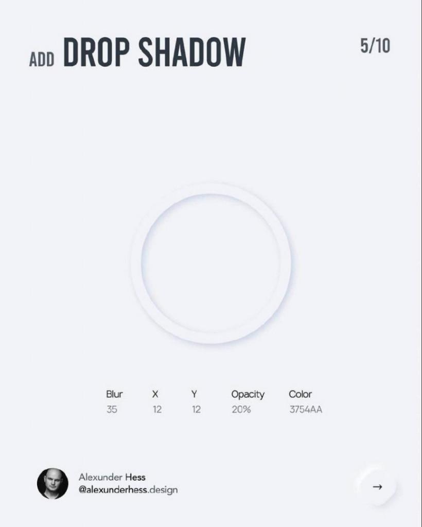 Add DROP SHADOW