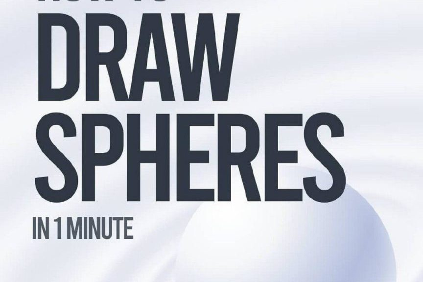 How to Draw Spheres in a minute
