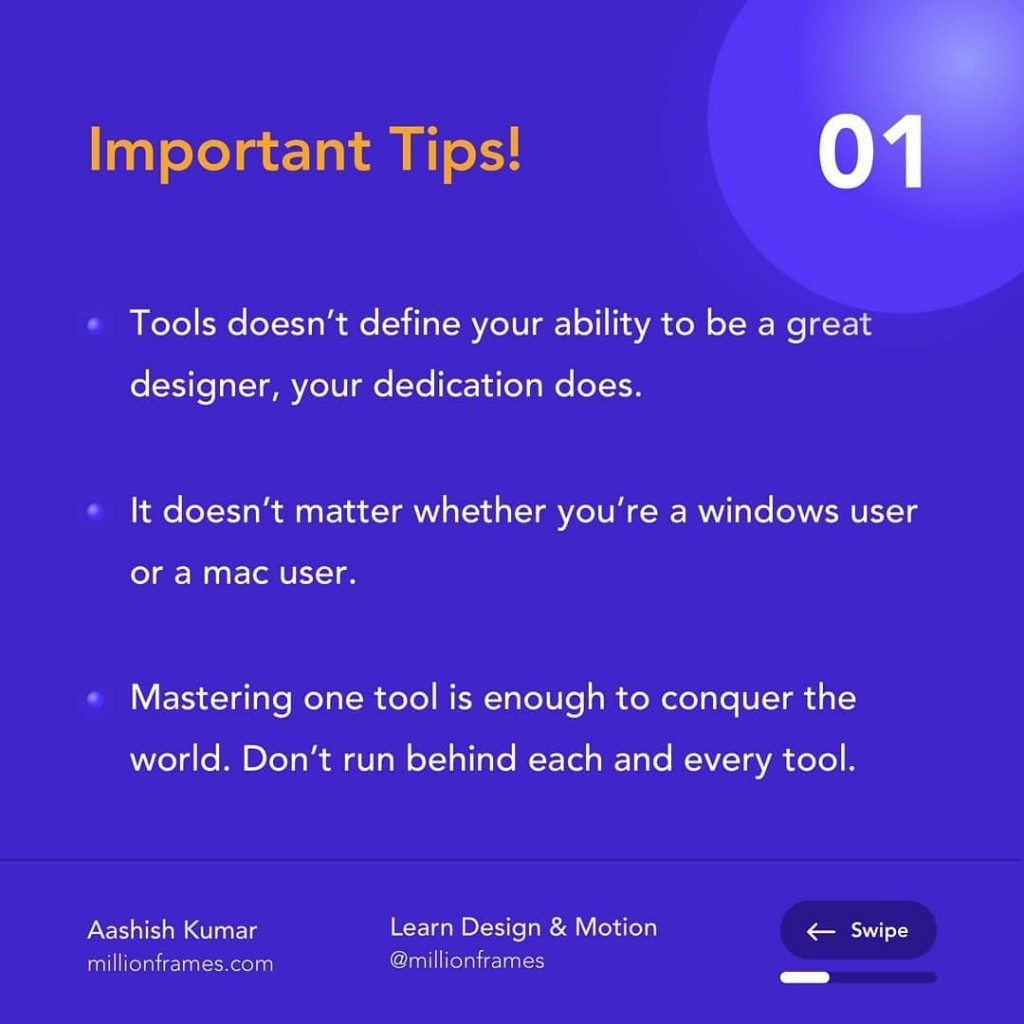 Important Tips!  Tools doesn't define your ability to be a great designer, your dedication does.  It doesn't matter whether you're a windows user  or a mac user.  Mastering one tool is enough to conquer the world. Don't run behind each and every tool.