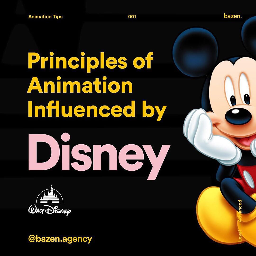 Principles of Animation Influenced by Disney