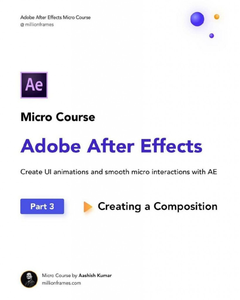 Ae Micro course Adobe after effects Create ui animations and smooth micro interactions with ae part 3 creating composition