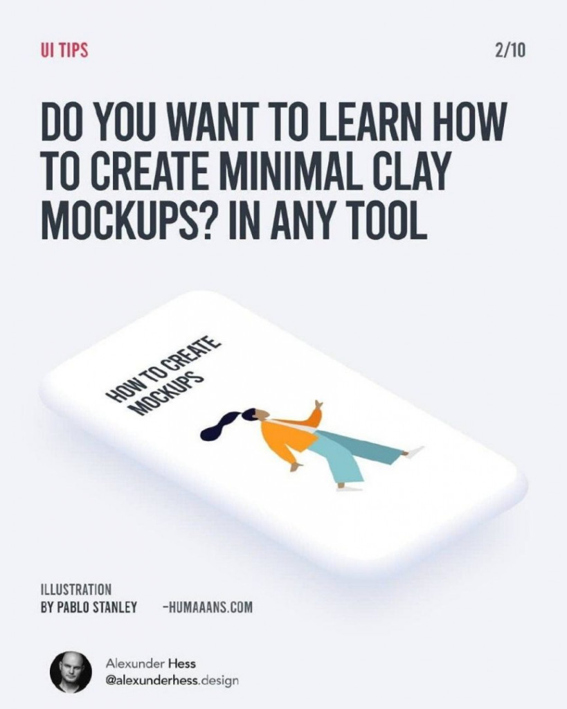 DO YOU WANT TO LEARN HOW TO CREATE MINIMAL CLAY MOCKUPS? IN ANY TOOL