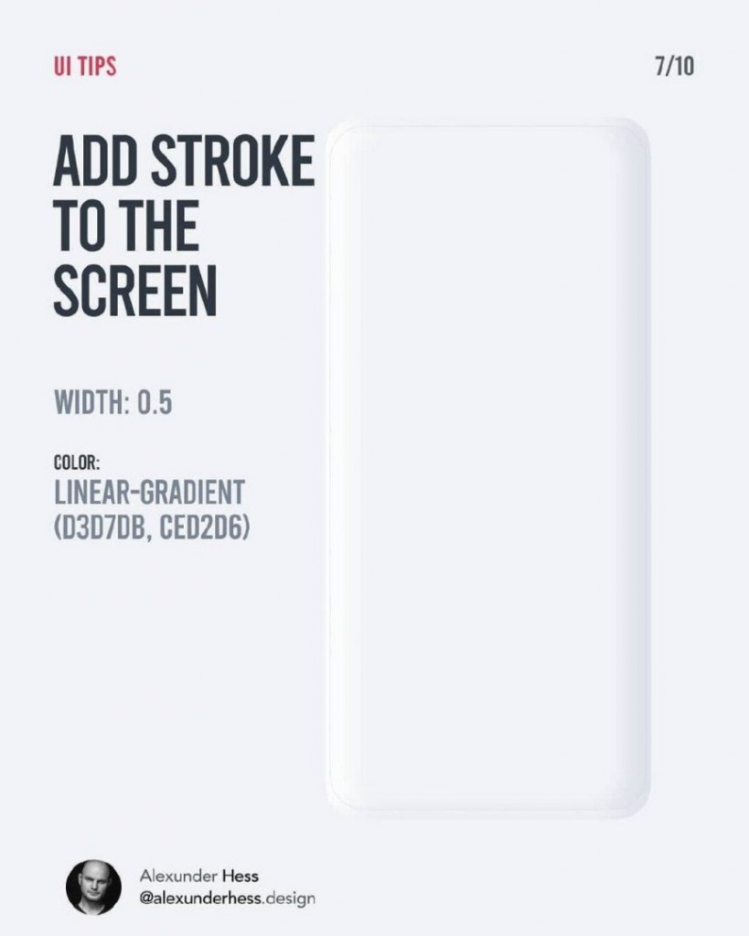 ADD STROKE TO THE SCREEN  WIDTH: 0.5  COLOR: LINEAR-GRADIENT (D3D7DB, CED2D6)