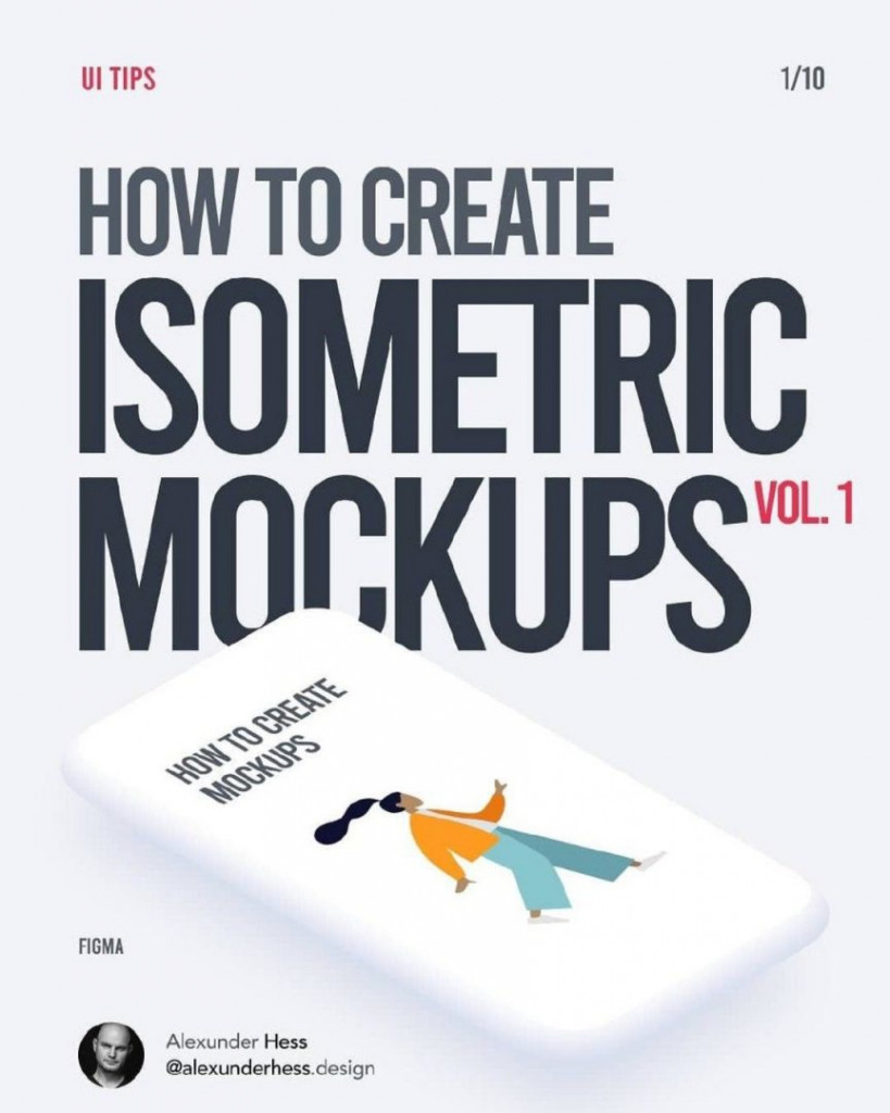 How to Create Isometric Mockups in Figma