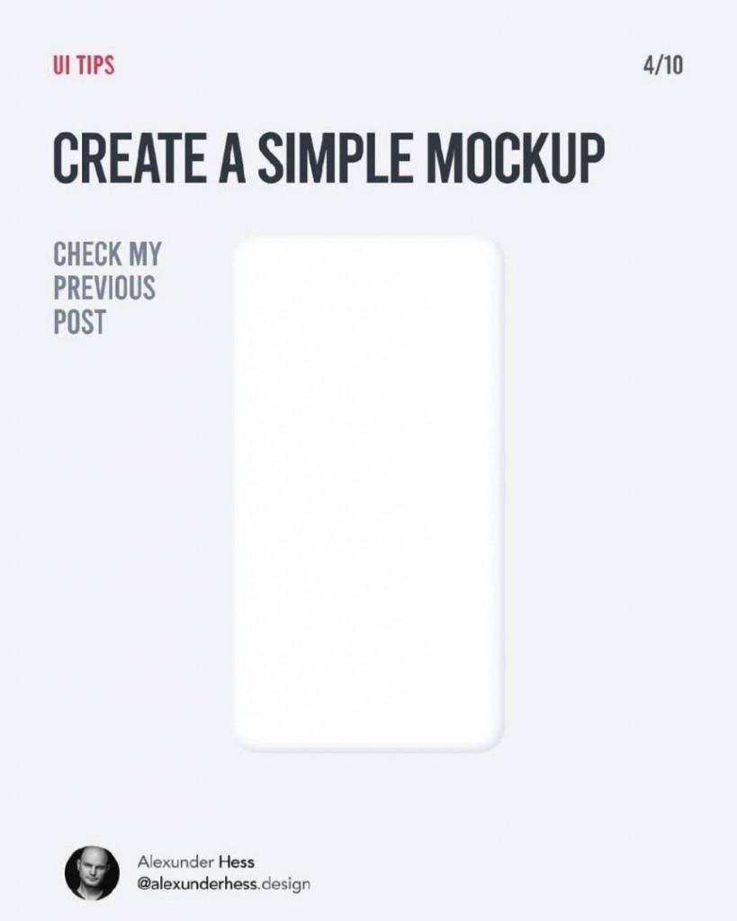 CREATE A SIMPLE MOCKUP