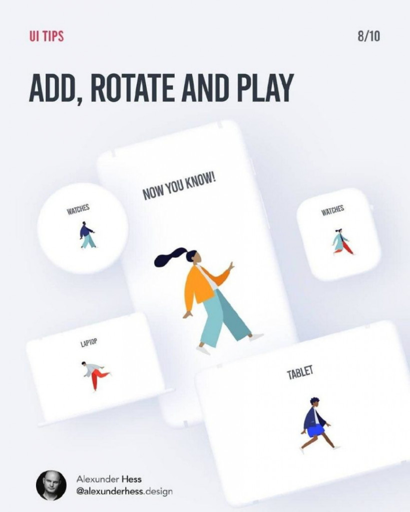 ADD, ROTATE AND PLAY