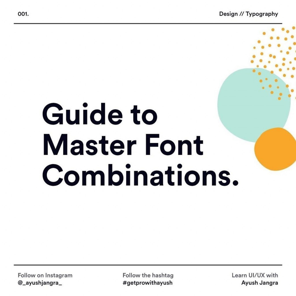 Guide to Master Font Combinations