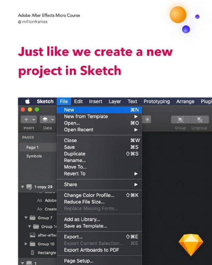 Just like we create a new project in Sketch