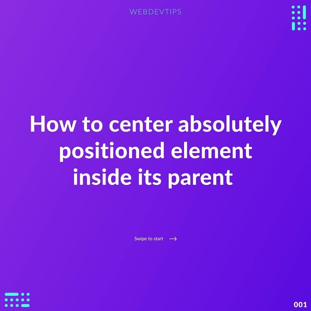 How to Сenter Absolutely Positioned Element Inside Its Parent