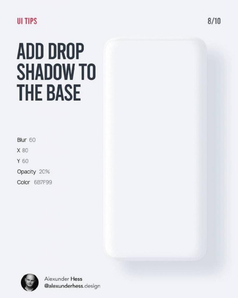 ADD DROP SHADOW TO THE BASE  Blur 60  X 80  Y 60  Opacity 20%  Color 6B7F99