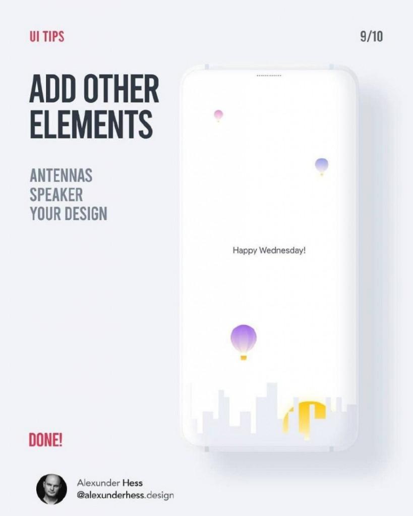 ADD OTHER ELEMENTS  ANTENNAS SPEAKER YOUR DESIGN  DONE!