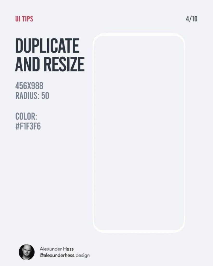 DUPLICATE AND RESIZE  456x988  RADIUS: 50  COLOR: #F1F3F6