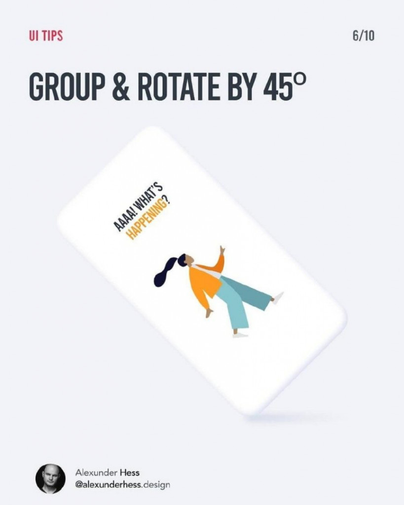 GROUP & ROTATE BY 45