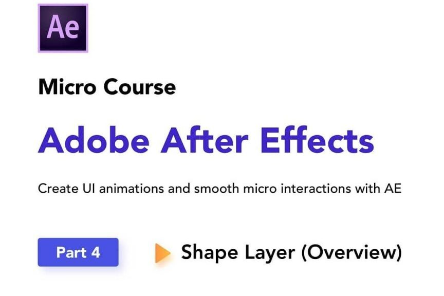 Overview of Shape Layers Inside Adobe After Effects