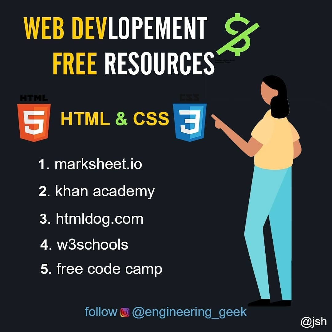 Web Development Free Resources. Part 1