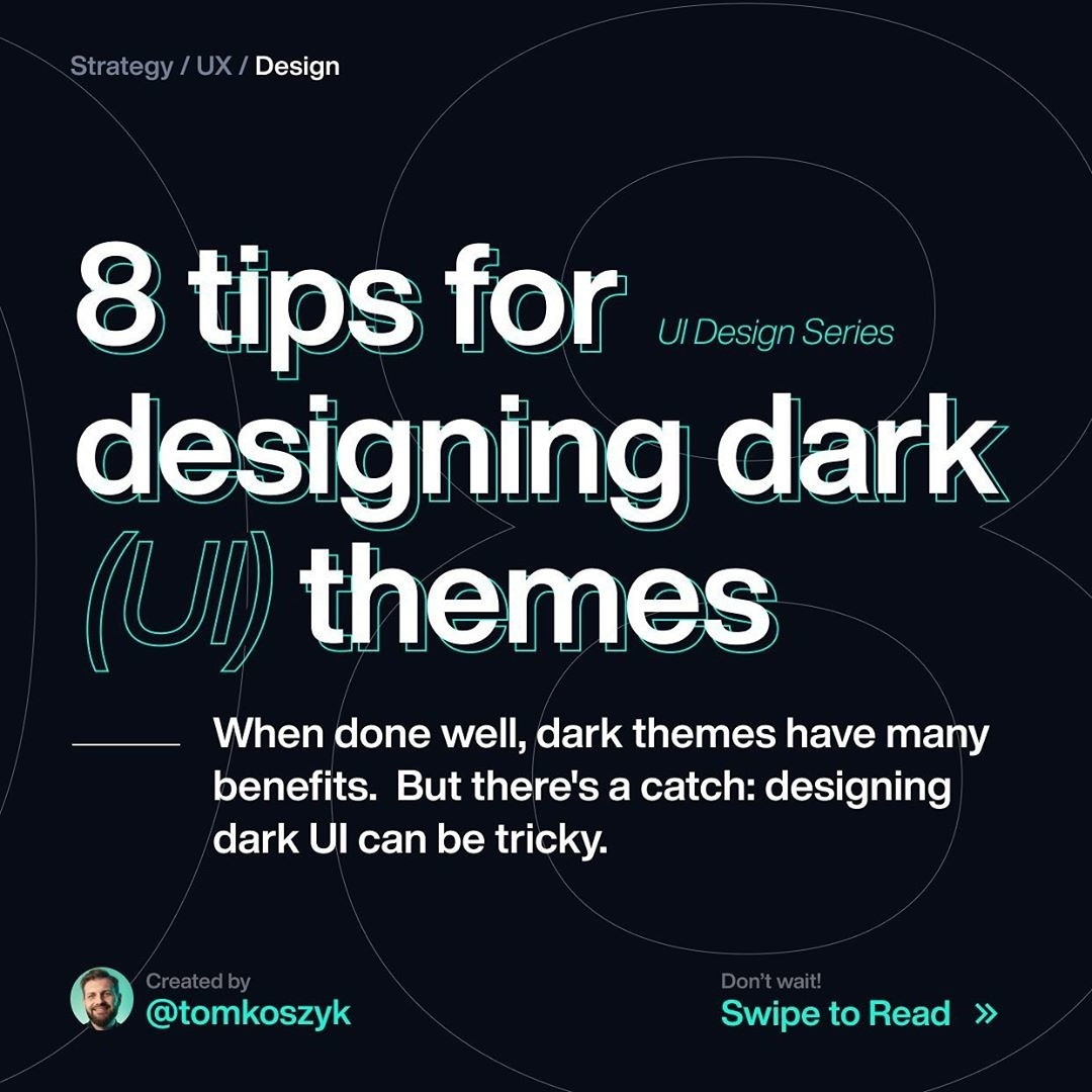 8 Tips for Designing Dark (UI) Themes