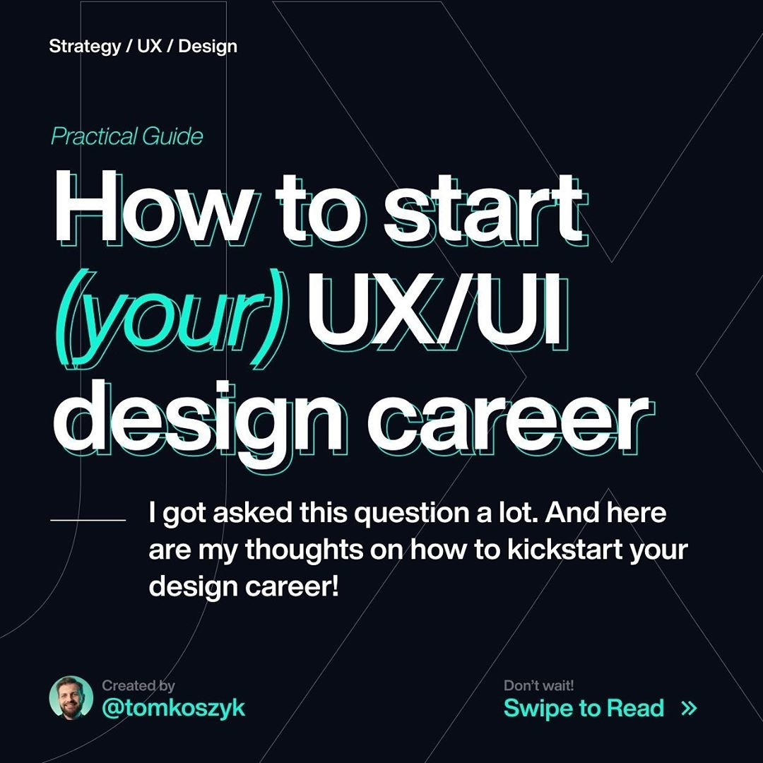 How to Start (your) UX/UI Design Career