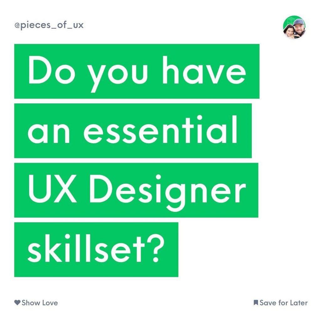 Do You Have Essential UX Designer Skillset?