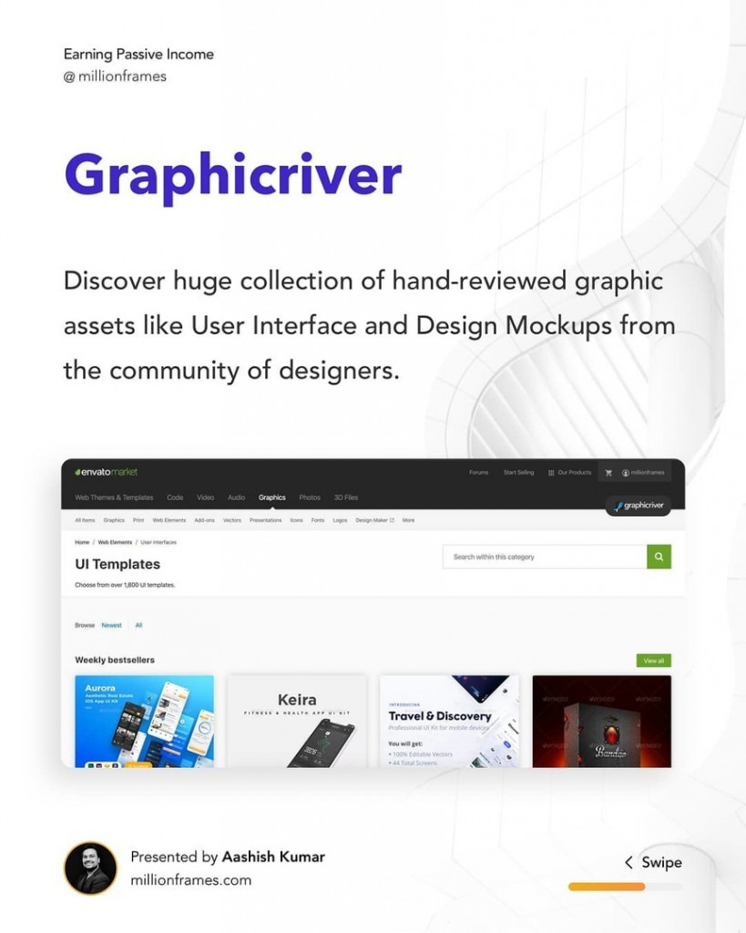 Graphicriver  Discover huge collection of hand-reviewed graphic assets like User Interface and Design Mockups from the community of designers.