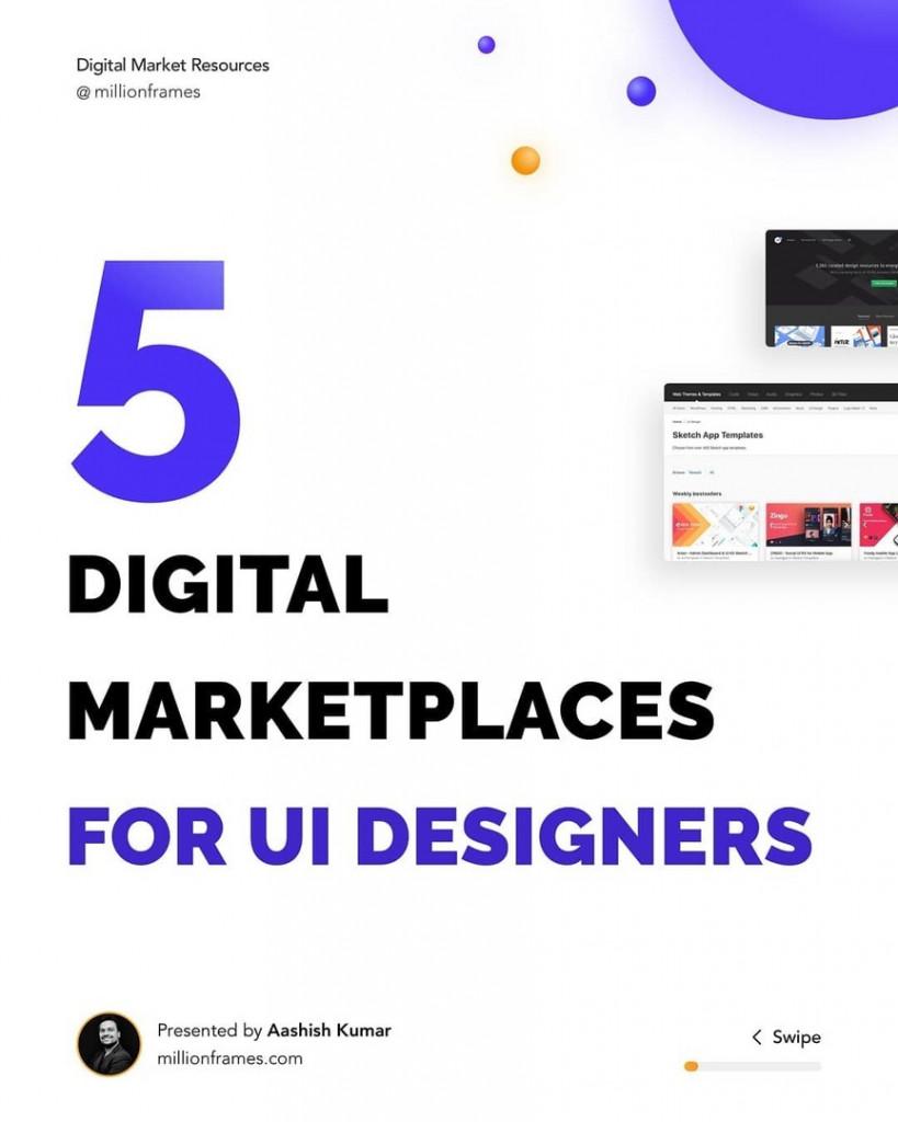 5 Digital Marketplaces for UI Designers