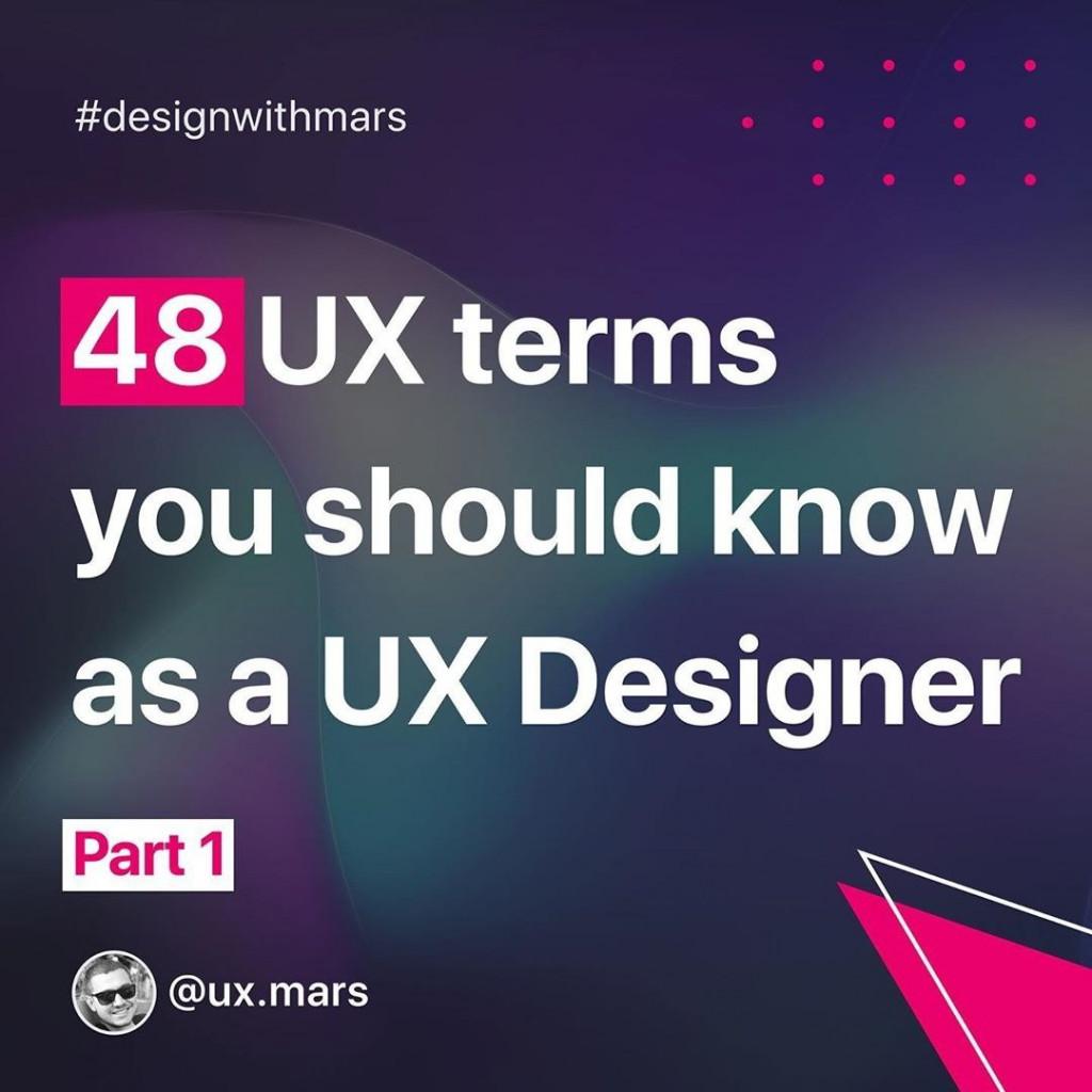 48 UX Terms You Should Know as a UX Designer — Part 1