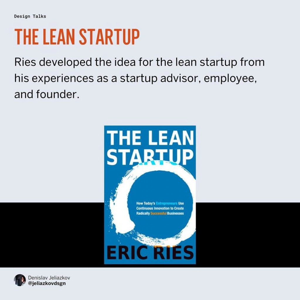 The lean startup  Ries developed the idea for the lean startup from his experiences as a startup advisor, employee, and founder.