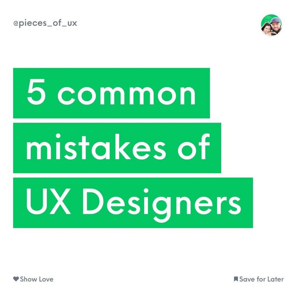 5 Common Mistakes of UX Designers