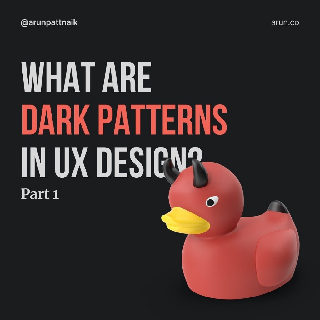 What are Dark Patterns in UX Design? Part 1